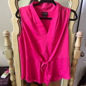 Lightweight hot pink blouse